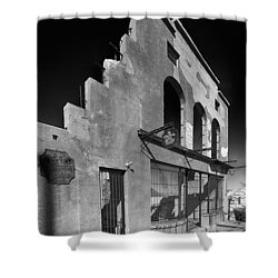 Im Still Standing Jerome Black And White Shower Curtain by Scott Campbell