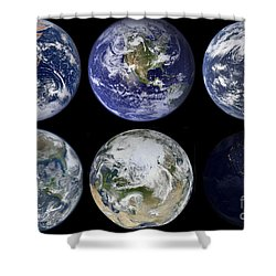 Image Comparison Of Iconic Views Shower Curtain by Stocktrek Images