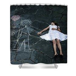 Imaginary Friend Shower Curtain by Joana Kruse