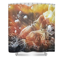 Shower Curtain featuring the painting Imagination 2 by Vesna Martinjak