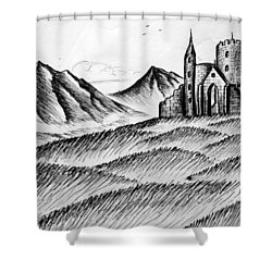Shower Curtain featuring the painting Imagination by Salman Ravish