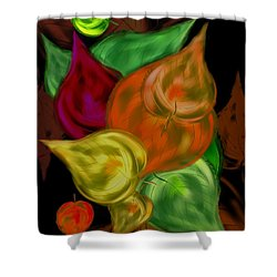 Imagine Leaves Shower Curtain by Christine Fournier