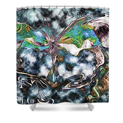 Imagine Number 2 Butterfly Art Shower Curtain by Andy Prendy