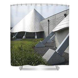 Imiloa Astronomy Center - Hilo Hawaii Shower Curtain by Daniel Hagerman
