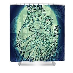 Immanuel God With Us Shower Curtain