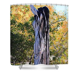 Immersed In Paint Shower Curtain by Natalie Ortiz