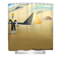 Shower Curtain featuring the painting Immortality by Ryan Demaree