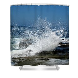 Impact Of The Sea Shower Curtain