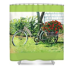 Impatiens To Ride Shower Curtain by LeAnne Sowa