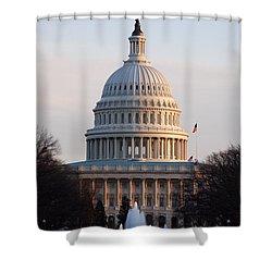 Impediment Shower Curtain by John Schneider