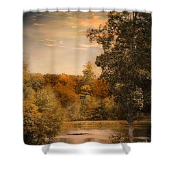 Impending Autumn Shower Curtain by Jai Johnson