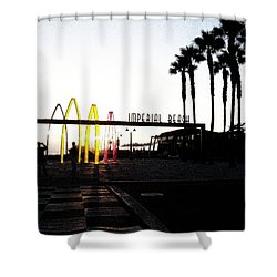 Imperial Beach At Dusk Shower Curtain