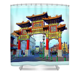Imperial Chinese Arch Liverpool Uk Shower Curtain