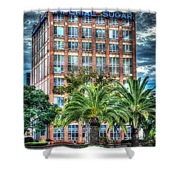 Imperial Sugar Factory Daytime Hdr Shower Curtain