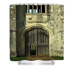 Imposing Front Door Of Titchfield Abbey Shower Curtain by Terri Waters