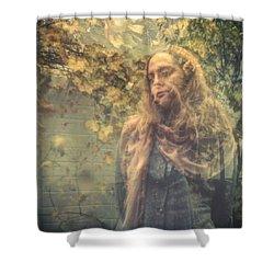 Impression II Shower Curtain by Taylan Apukovska
