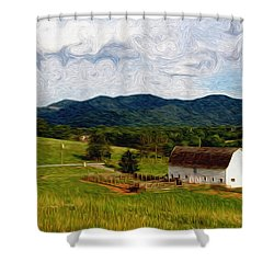 Shower Curtain featuring the painting Impressionist Farming by John Haldane