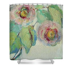 Impressionist Roses  Shower Curtain