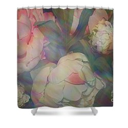 Shower Curtain featuring the photograph Impressionistic Spring Bouquet by Dora Sofia Caputo Photographic Art and Design