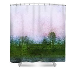 Impressionistic Style Of Trees Shower Curtain by Roberta Murray