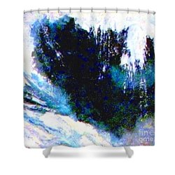 Impressionistic Waterfall Shower Curtain by Hazel Holland