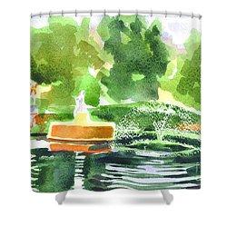 Impressions II Shower Curtain by Kip DeVore
