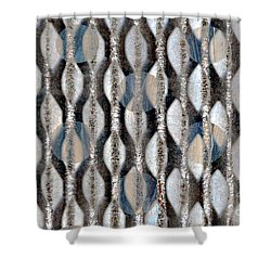 Shower Curtain featuring the digital art Captive Circles by Darla Wood