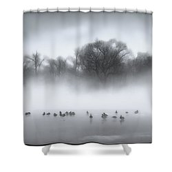 Shower Curtain featuring the photograph Improving Weather by Kellice Swaggerty