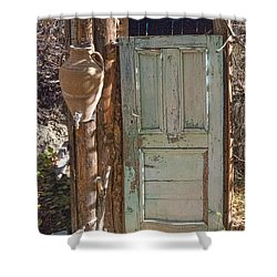 Improvised Outhouse Shower Curtain