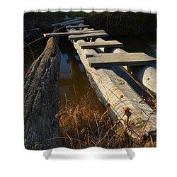 Improvised Wooden Bridge Shower Curtain