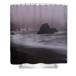 In A Fog Shower Curtain by Suzanne Luft
