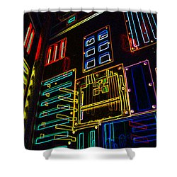 In A Neon-box Shower Curtain by Tine Nordbred