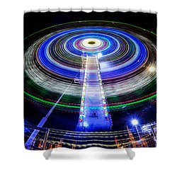 In A Spin Shower Curtain by Ray Warren