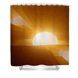 In All The Glory Shower Curtain by Jeff Swan