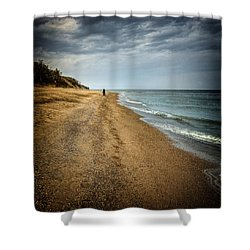 In All Things You Do Consider The End Shower Curtain by Jeff Burton