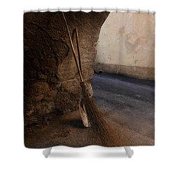 In An Ancient Village Shower Curtain by Susan Rovira