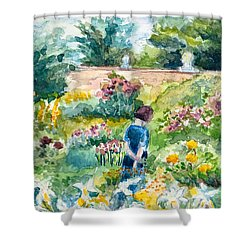 In An English Cottage Garden Shower Curtain