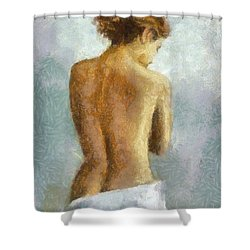 In Anticipation Shower Curtain