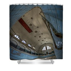In At The Deep End Shower Curtain by Nathan Wright