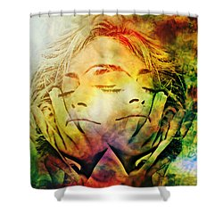 In Between Dreams Shower Curtain by Ally  White