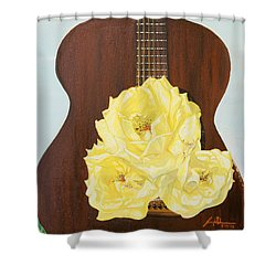 In-between Notes Shower Curtain by Joseph Demaree