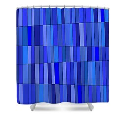 In Blue Please Shower Curtain