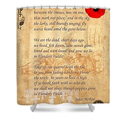 In Flanders Fields Shower Curtain