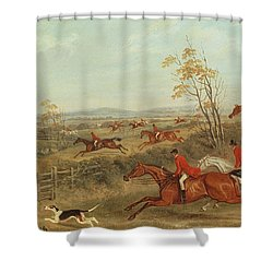 In Full Cry Shower Curtain by James Russell Ryott