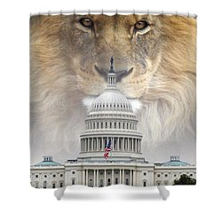 In God We Trust Shower Curtain by Bill Stephens