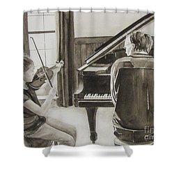 In Harmony Shower Curtain by Carol Flagg