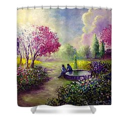 In Heaven Everything Is Fine Shower Curtain