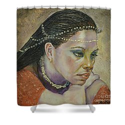 In Her Thoughts Shower Curtain