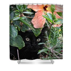 Shower Curtain featuring the photograph In His Jungle by Peggy Hughes