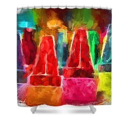 In Honor Of Crayons Shower Curtain